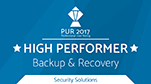 PUR Award 2017 - High Performer Backup Recovery